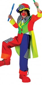 Spanky Stripes Clown Child Medium
